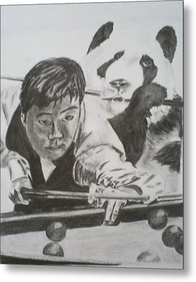 Ding Junhui Snooker Metal Print by James Dolan