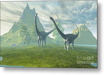 Dinosaur Land Metal Print by Corey Ford