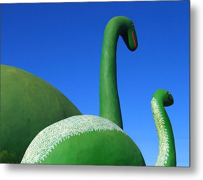 Dinosaur Walk  Metal Print by Mike McGlothlen
