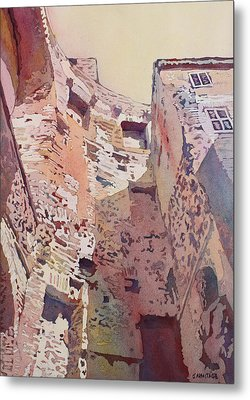 Diocletian Courtyard Metal Print by Jenny Armitage