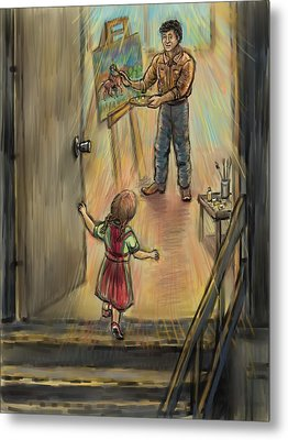 Discovering Daddy's World Metal Print by Dawn Senior-Trask