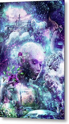 Discovering The Cosmic Consciousness Metal Print by Cameron Gray