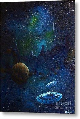 Distant Nebula Metal Print by Murphy Elliott