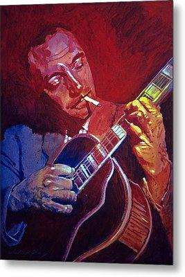 Django Sweet Lowdown Metal Print by David Lloyd Glover