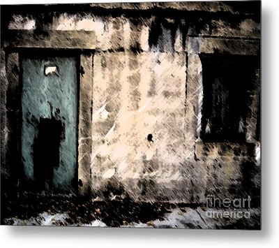 Do Not Enter Metal Print by Courtney Rush