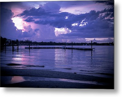 Dock On The Water Metal Print by Michael Frizzell
