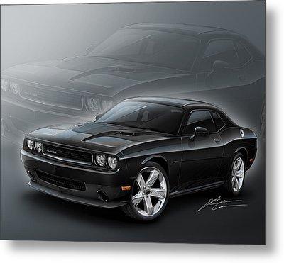 Dodge Challenger 2013 Metal Print by Etienne Carignan