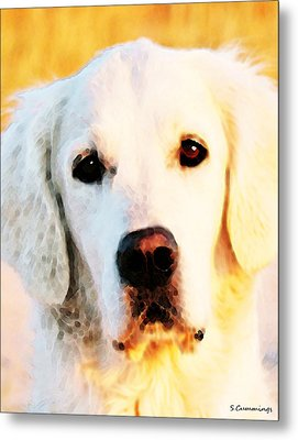 Dog Art - Golden Moments Metal Print by Sharon Cummings