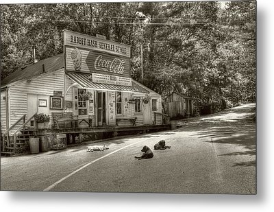 Dog Day At Rabbit Hash Sepia Tone Metal Print by Tri State Art