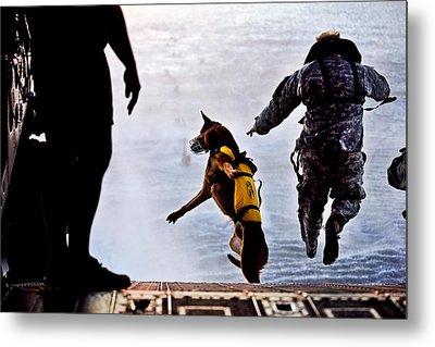 Military Working Dog Metal Print by Tech Sgt Manuel J Martinez