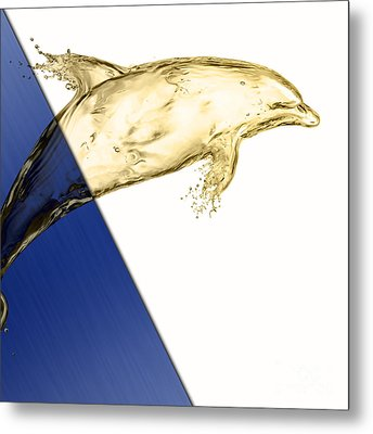 Dolphin Collection Metal Print by Marvin Blaine