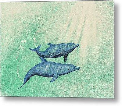 Dolphins Metal Print by Wayne Hardee