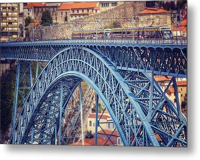 Dom Luis Bridge Porto  Metal Print by Carol Japp