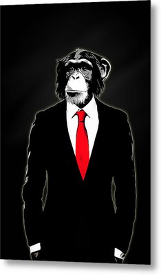 Domesticated Monkey Metal Print by Nicklas Gustafsson