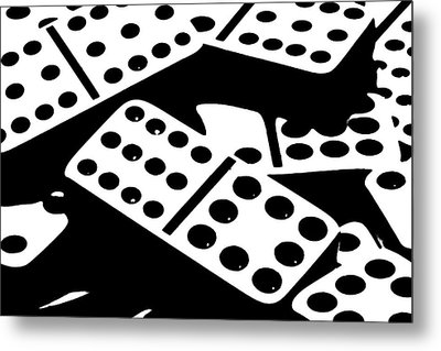 Dominoes Iv Metal Print by Tom Mc Nemar