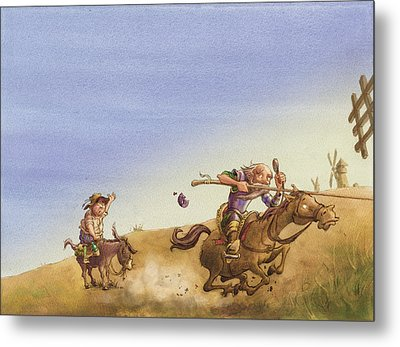 Don Quixote Metal Print by Andy Catling