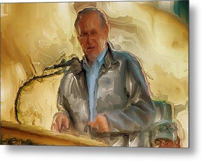 Donald Rumsfeld Metal Print by Brian Reaves