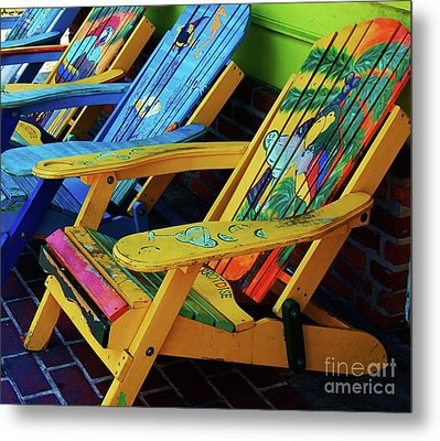 Dont Worry Be Happy Metal Print by Debbi Granruth
