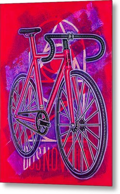 Dosnoventa Houston Flo Pink Metal Print by Mark Howard Jones