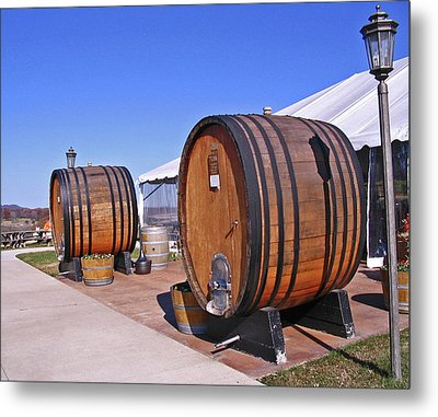 Double Barrels Metal Print by Marian Bell