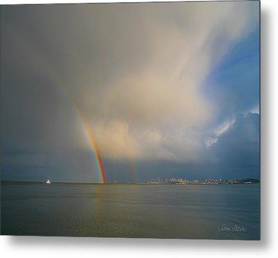Double Rainbow Metal Print by Sabine Stetson