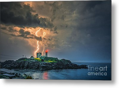 Double Strike Metal Print by Scott Thorp