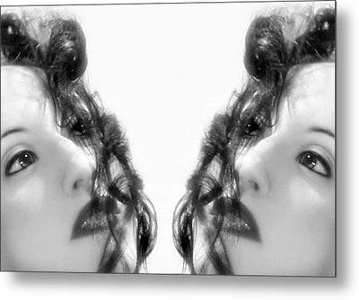 Double Vacancy - Self Portrait Metal Print by Jaeda DeWalt