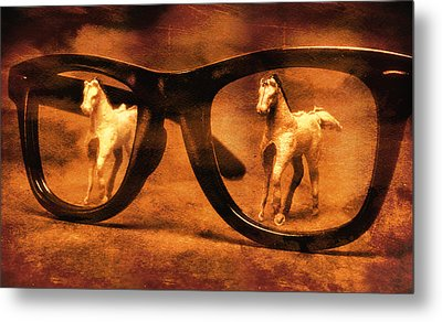 Double Vision Metal Print by Jeff  Gettis