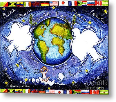 Doves Of The World Metal Print by Genevieve Esson