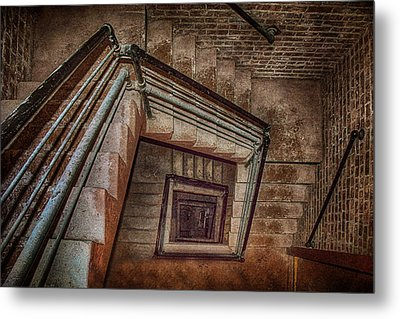 Down And Around - Staircase Metal Print by Nikolyn McDonald