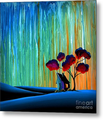 Down In The Valley Metal Print by Cindy Thornton