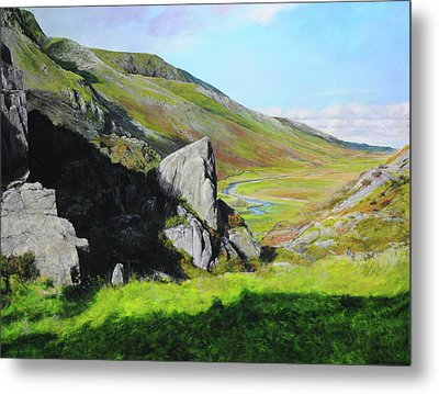 Down The Valley Metal Print by Harry Robertson