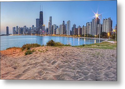 Downtown Chicago From North Beach Metal Print by Twenty Two North Photography
