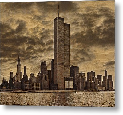 Downtown Manhattan Circa Nineteen Seventy Nine  Metal Print by Chris Lord