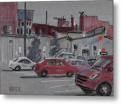 Downtown Parking Metal Print by Donald Maier