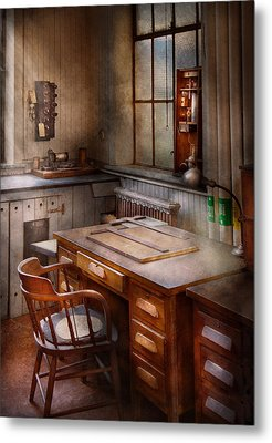 Drafting - Where Ideas Come From  Metal Print by Mike Savad