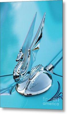 Flying Seahorse Hood Ornament - Classic Car Metal Print by Gary Whitton