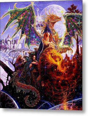 Dragon Master's Apprentice Metal Print by Steve Roberts
