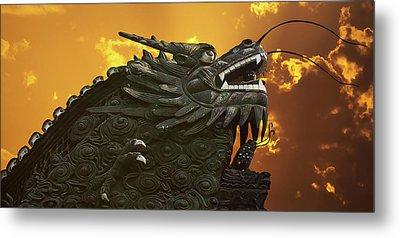 Dragon Wall - Yu Garden Shanghai Metal Print by Christine Till