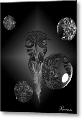 Dragons And Tigers Metal Print by Andrea Lawrence