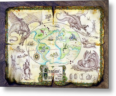 Dragons Of The World Metal Print by The Dragon Chronicles - Garry Wa