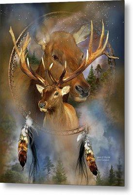 Dream Catcher - Spirit Of The Elk Metal Print by Carol Cavalaris