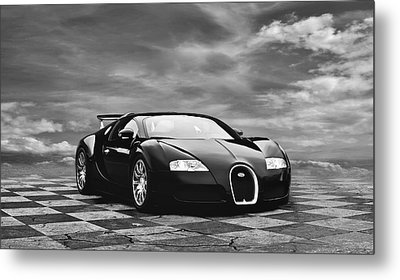 Dream Machine Bw Metal Print by Peter Chilelli