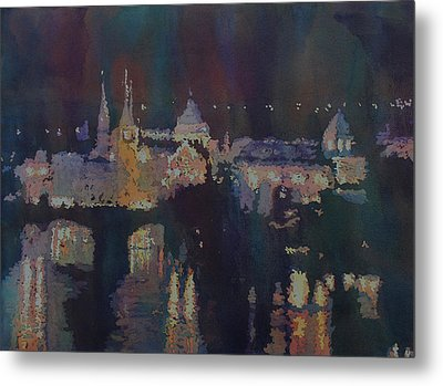 Dreaming Of Prague Metal Print by Jenny Armitage