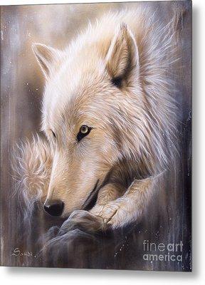 Dreamscape - Wolf Metal Print by Sandi Baker
