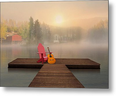 Dreamy Country Lake Metal Print by Nina Bradica