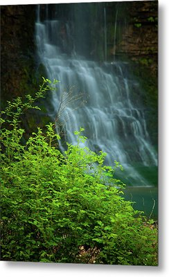 Dreamy Waterfalls Metal Print by Iris Greenwell