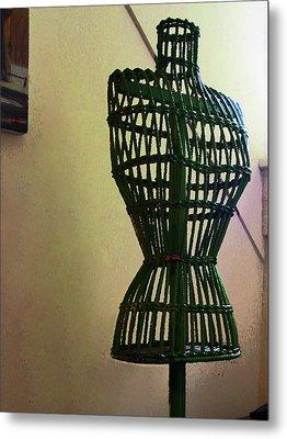 Dress Form Metal Print by Susan Savad