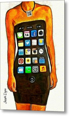 Dressing Iphone - Da Metal Print by Leonardo Digenio