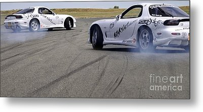Drifting Couple Metal Print by Andy Smy